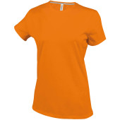 Dames t-shirt ronde hals korte mouwen orange 3xl