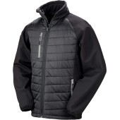 Black compass padded soft shell jacket black / grey 3xl