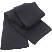Classic heavy knit scarf charcoal one size