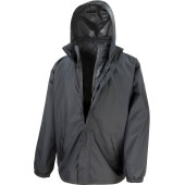 3-in-1 jacket with quilted bodywarmer black s