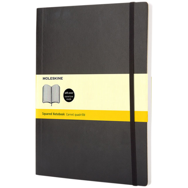 Classic XL softcover notitieboek - ruitjes
