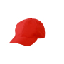 6 Panel Polyester Peach Cap tomaat