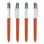4 Colours Fine ballpen LP orange_UP white_RI black