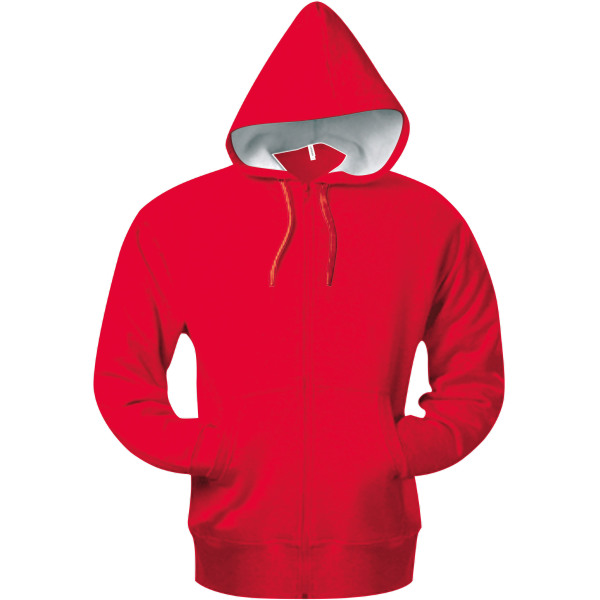 Hooded sweater met rits