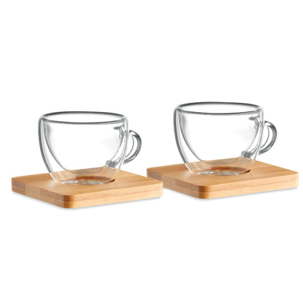 BELIZE - Set of 2 double wall espresso