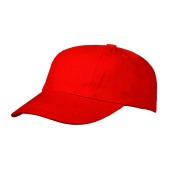 Brushed Turned Top Kids Cap Rood