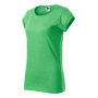 Fusion T-shirt Ladies green melange 2XL