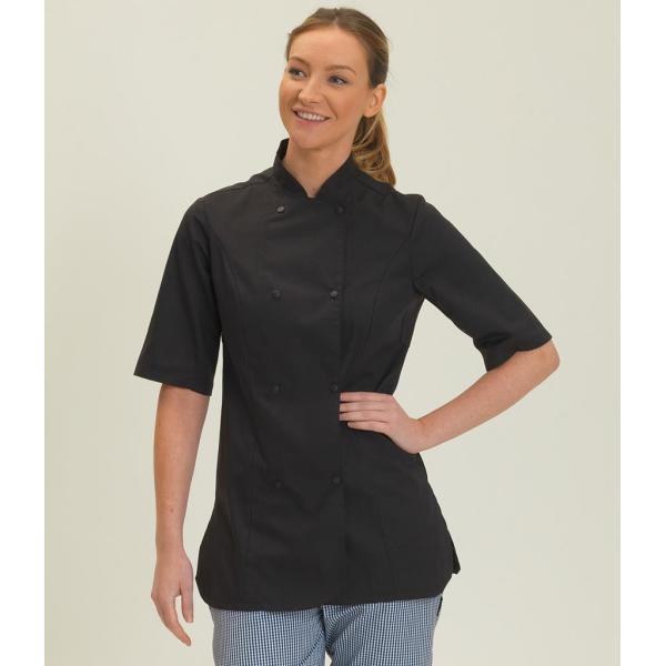 Ladies Short Sleeve Premium Chef's Jacket