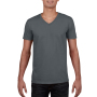 Gildan T-shirt V-Neck SoftStyle SS for him Charcoal XXL