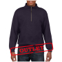 Gildan Sweater 1/4 Zip HeavyBlend Blackberry-35% korting XXL