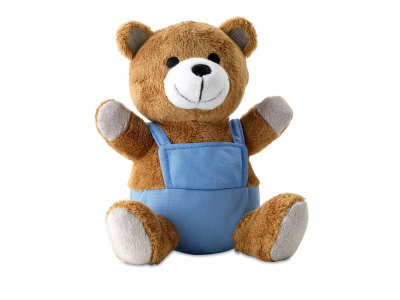 NICO - Bear plush w/ advertising pants