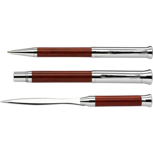 Rosewood writing set