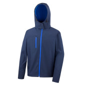 Core tx performance hooded soft shell jacket navy / royal m