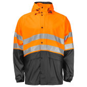 PROJOB 6431 RAINJACKET HV ORANGE/BLACK XS