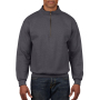 Gildan Sweater 1/4 Zip HeavyBlend tweed S