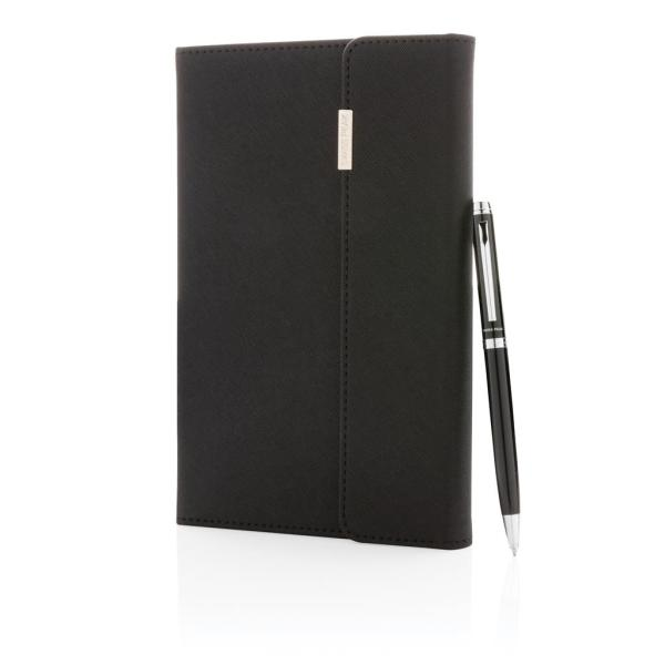 Swiss Peak deluxe A5 notitieboek en pen set