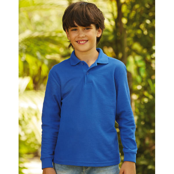 Kids 65/35 Long Sleeve Polo