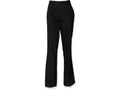 Ladies flat front chino trousers