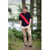 Diagonal stripe men's polo shirt