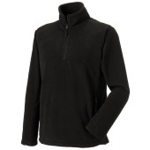 1/4 zip outdoor fleece black xl
