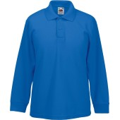 65/35 kids' long sleeve polo shirt royal blue 3/4 y (3/4 ans)
