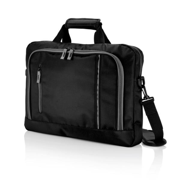 City laptop tas, zwart