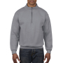 Gildan Sweater 1/4 Zip Cadet Vintage sports grey XXXL