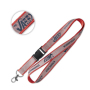 Glitter lanyard with plastic detachable buckle