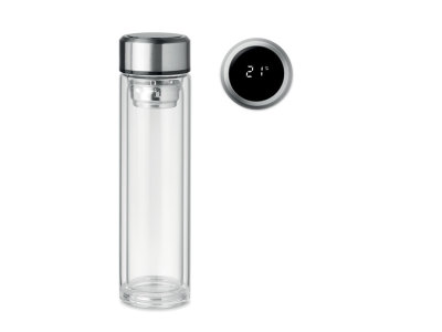 POLE GLASS - Drinkfles met thermometer