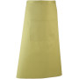 'colours' bar apron lime one size