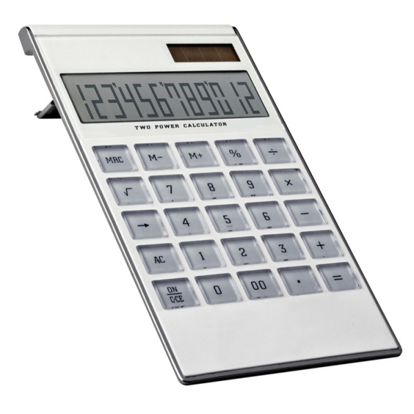 12-digit dual power calculator