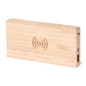 BRAINZ Powerbank + Wireless Charger Bamboo