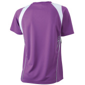 Ladies' Running-T - paars/wit