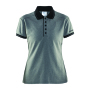 Noble polo pique shirt wmn d.grey/black s
