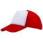 5-panel truckercap BREEZY - rood, wit
