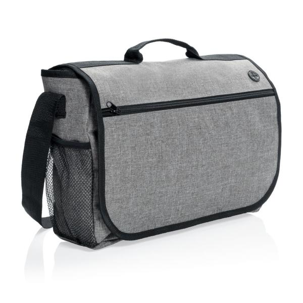 Fashion messenger bag, grijs
