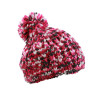 Coarse Knitting Hat - roze/gebroken wit
