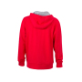 Men's Lifestyle Zip-Hoody - rood/heather grijs