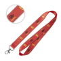 Lanyard with reflective threads