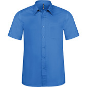 Ace - heren overhemd korte mouwen light royal blue 6xl