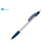 Balpen Cosmo grip hardcolour wit / donker blauw