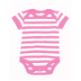 Baby Stripy Rompertje 0-3 Monate Bubble Gum Pink/Washed White