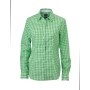Ladies' Checked Blouse groen/wit