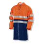 1565 Rain Jacket HV Orange/Navy m