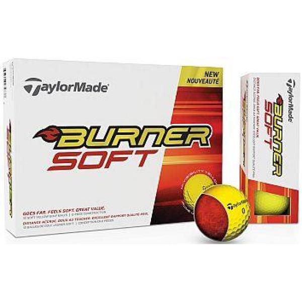 TaylorMade Burner SOFT Yellow Golfbal Yellow