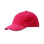 6 Panel Raver Sandwich Cap roze/wit