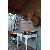 3-delige bamboe barbecue set, bruin - brown