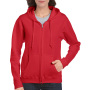 Gildan Sweater Hooded Full Zip HeavyBlend for her Red-35%korting L