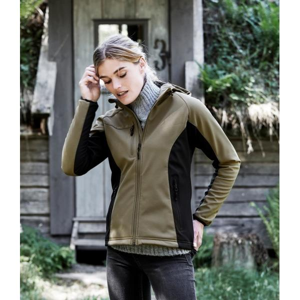 Ladies Lightweight Performance Hooded Soft Shell Jacket