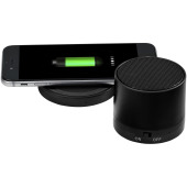 Cosmic Bluetooth® speaker en draadloos oplaadstation - Zwart